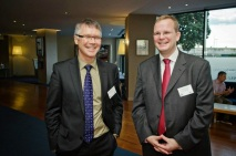 Labour finance spokesman Hon David Parker and Dr Oliver Marc Hartwich (March 2013)