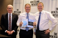 The New Zealand Initiative chairman Roger Partridge, New Zealand Prime Minister Rt Hon John Key, Dr Oliver Marc Hartwich (March 2015)