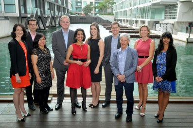 The team of The New Zealand Initiative: Rose Patterson, Dr Eric Crampton, Molly Sokhom, Dr Oliver Hartwich, Khyaati Acharya, Stephanie Morrison, Jason Krupp, Dr Bryce Wilkinson, Chelsy Blair, Jenesa Jeram (March 2015)
