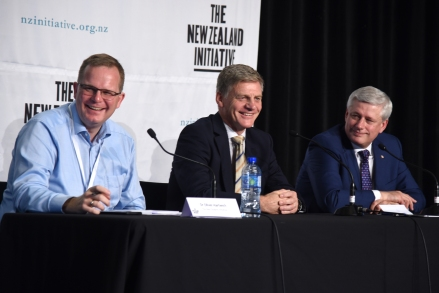 Dr Oliver Hartwich, Rt Hon Sir Bill English, Rt Hon Stephen Harper (March 2019)